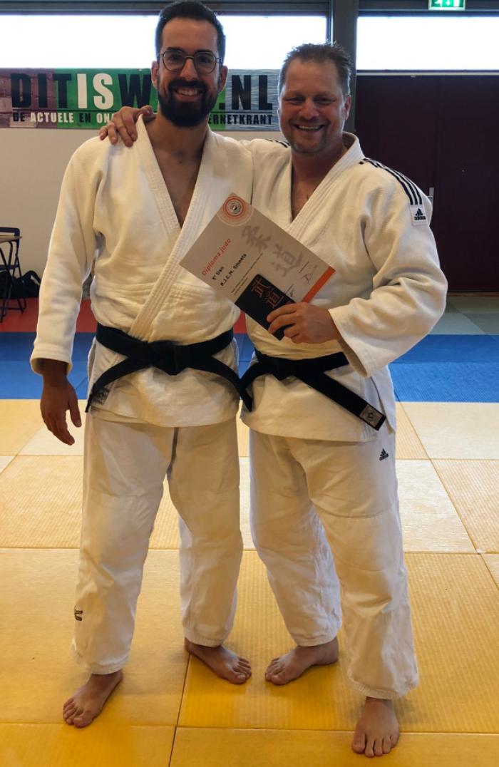 Ronald Smeets vijfde dan judo